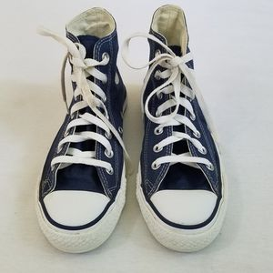 Converse sneakers high tops blue women's 7